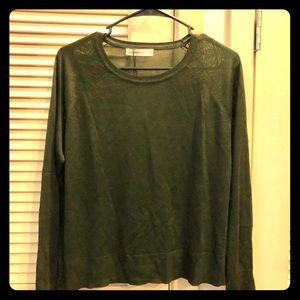 Olive green very thin sweater like shirt